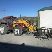 Tractor con ramonero